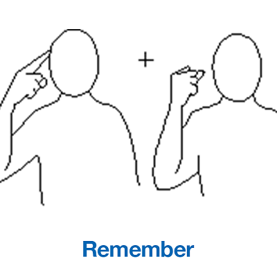 Makaton Sign of the Week - 11/11/19
