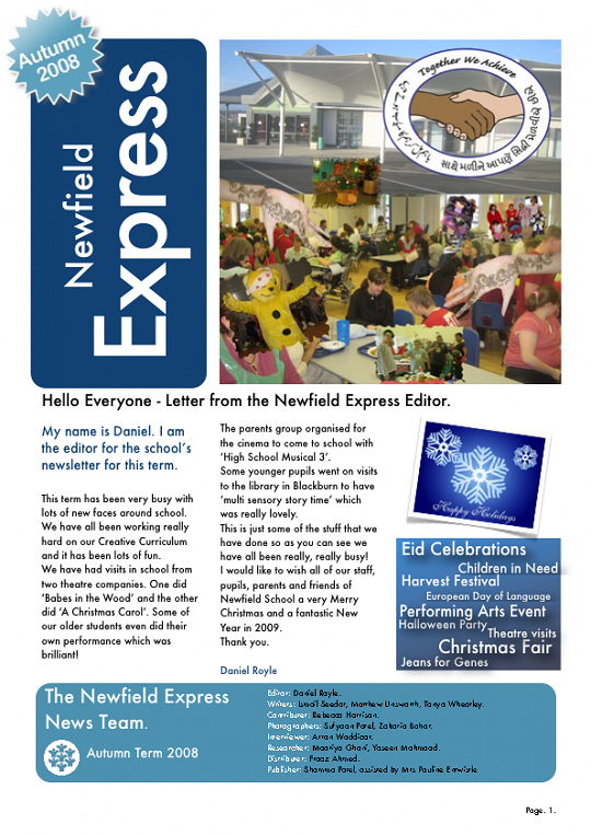 Newfield Newsletter Autumn 2008