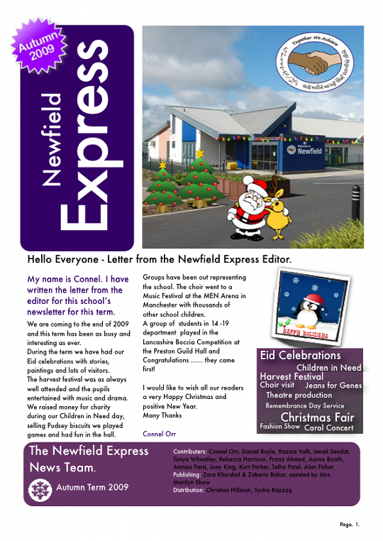 Newfield Newsletter Autumn 2009