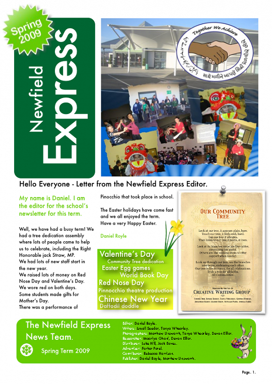 Newfield Newsletter Spring 2009