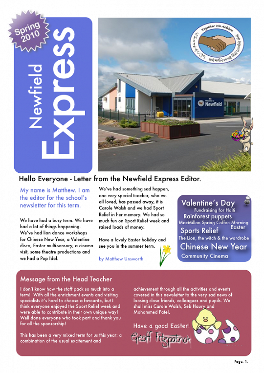 Newfield Newsletter Spring 2010