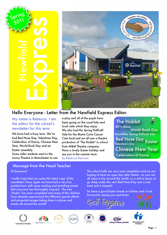 Newfield Newsletter Spring 2011