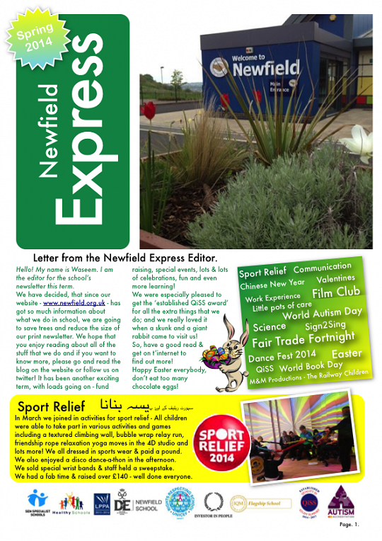 Newfield Newsletter Spring 2014