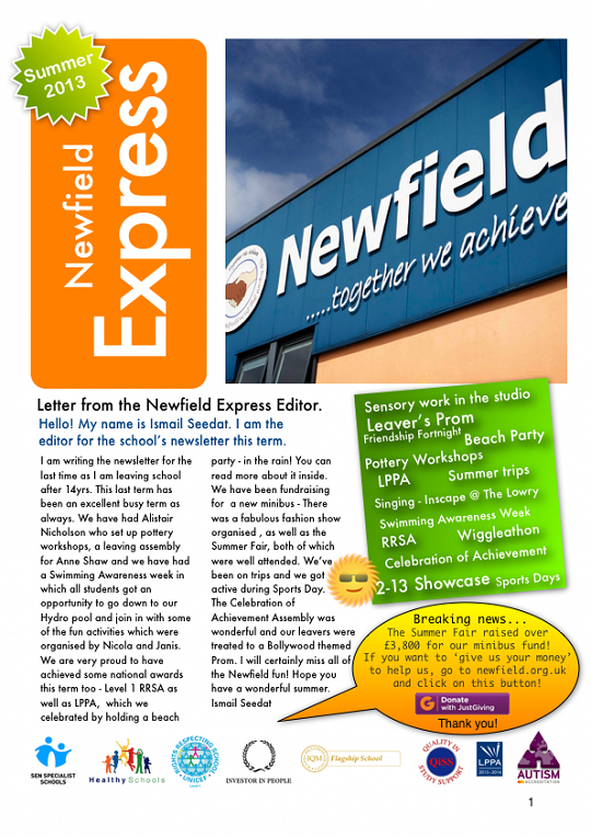 Newfield Newsletter Summer 2013