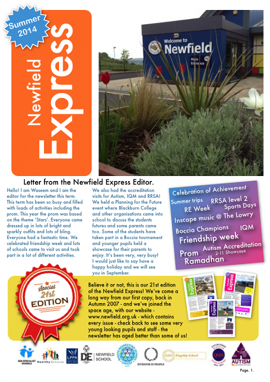 Newfield Newsletter Summer 2014