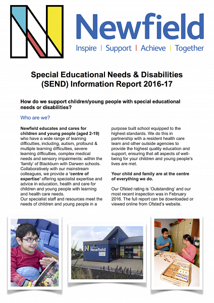 Newfield SEND Information Report 2016-17