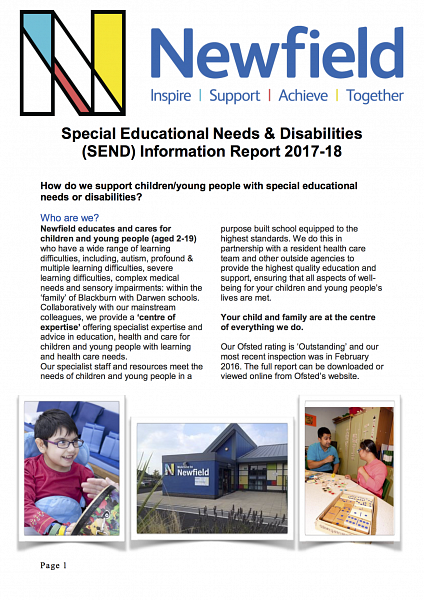 Newfield SEND Information Report 2017-18