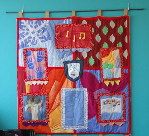 Tapestry created by parents' group.
