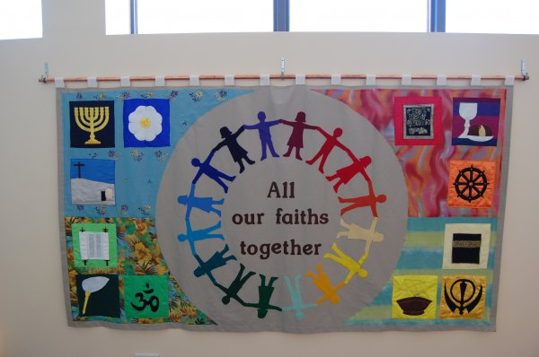 Our school community banner produced by the Parents' Group